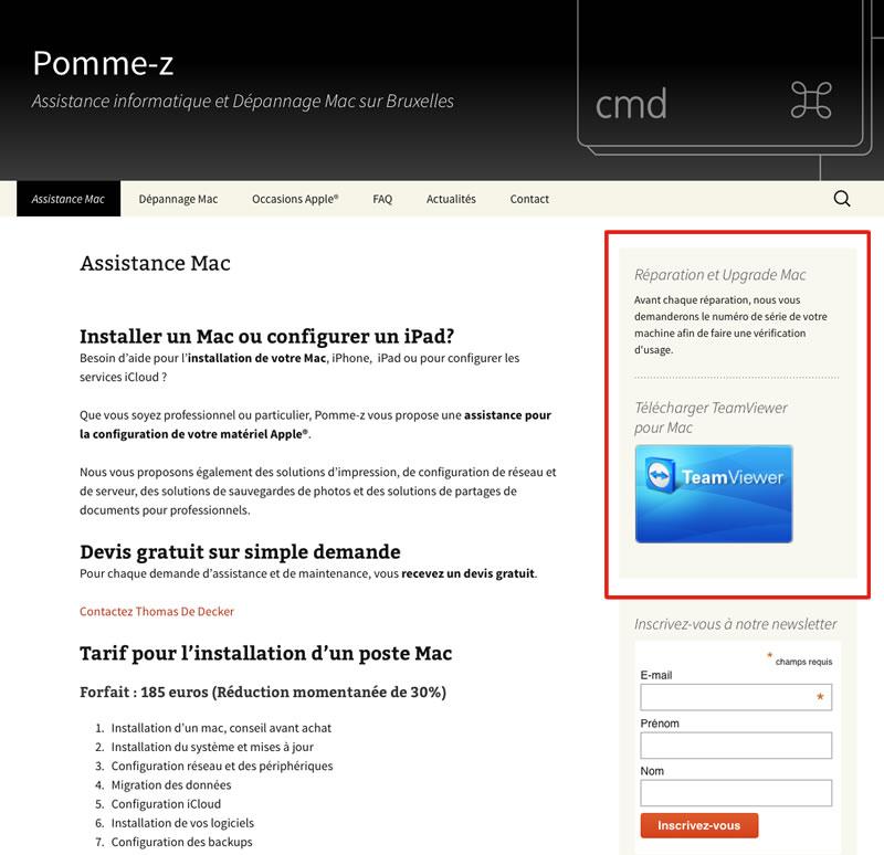 télécharger depuis le site de pomme-z, Teamviewer