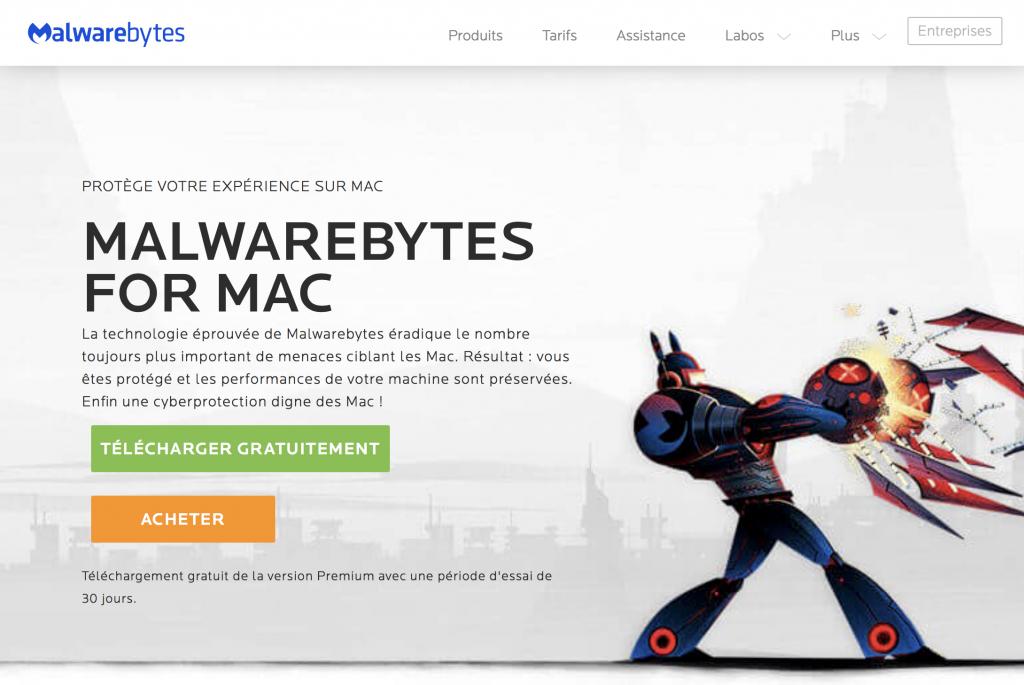 Site anti malware pour Mac - Malwarebytes