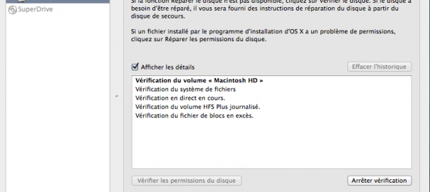 FAQ : Application utilitaire disque