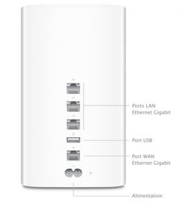 Time Capsule avec port USB et Ethernet