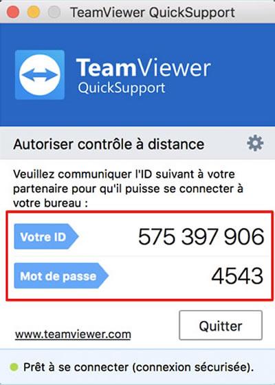 Mot de passe Teamviewer