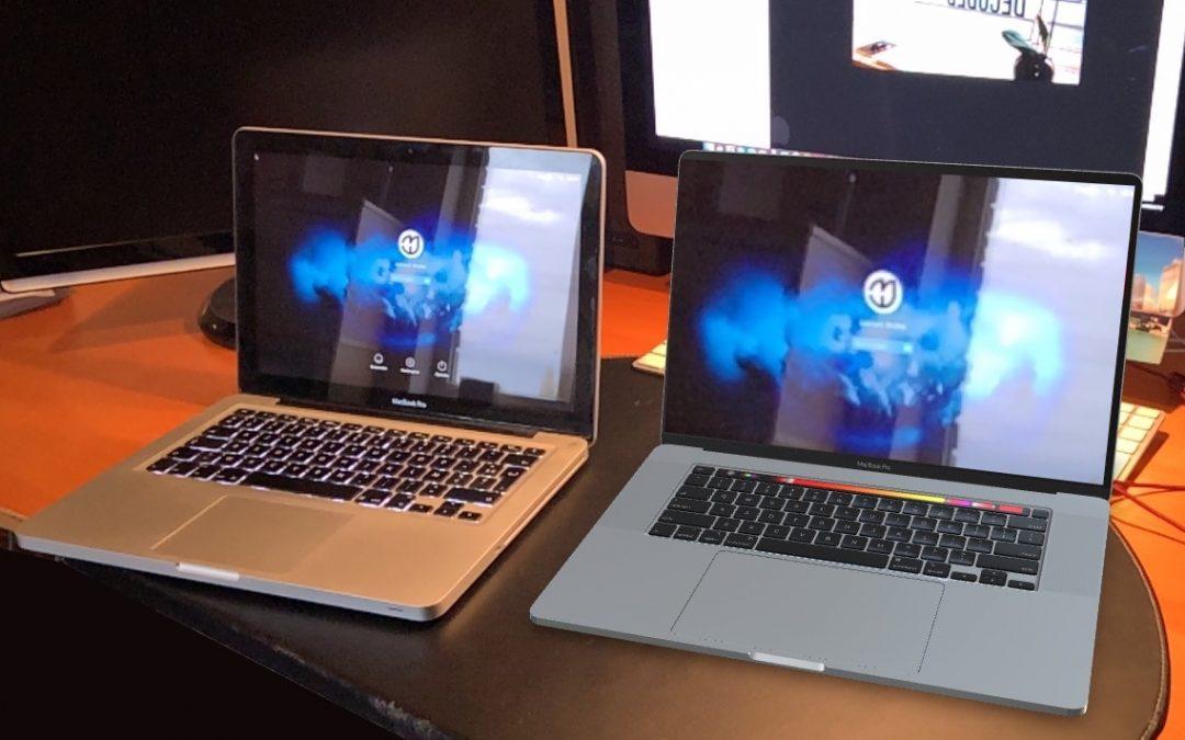 Le MacBook Pro avec un écran de 16″ est sorti