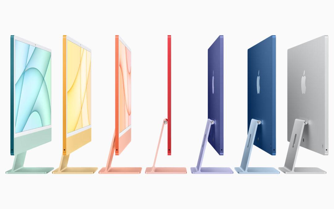Le nouvel iMac 24″ disponible depuis le mois de mai